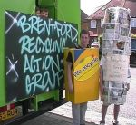 Jake and Andrew with their excellent costumes, Brentford Festival 2001
