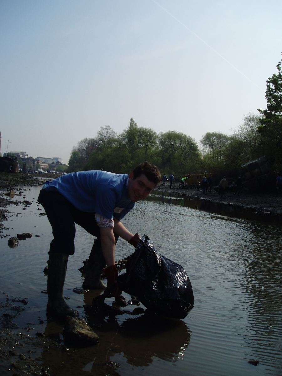 Andrew and his bag of rubbish