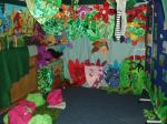 A colourful green room