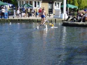 Aqua skipping - Nigel Moore shows how it's done